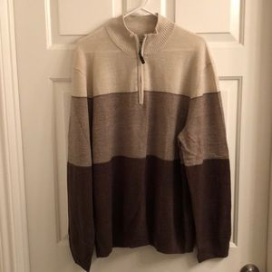 Dockers Qtr zip sweater, Men's XL, New with tags